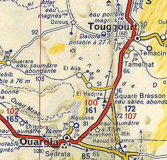 SAHARAS - Ouargla map